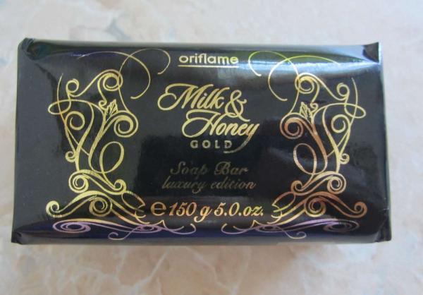 Питательное  мыло «Молоко и мед – Золотая серия» от Oriflame