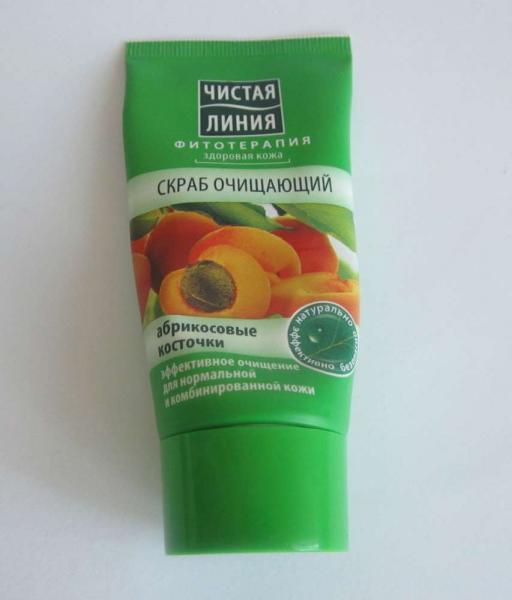 Очищающий скраб «Чистая линия» с абрикосовыми косточками