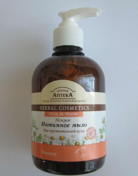 Интимное мыло для чувствительной кожи с ромашкой «Зеленая аптека»