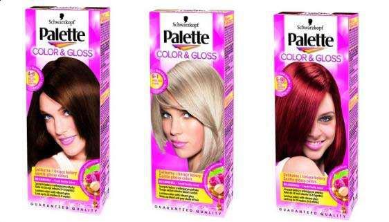 Краска для волос цвета палет