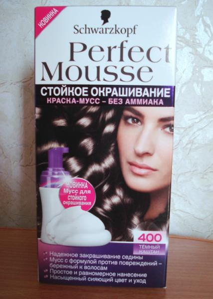 Мусс для волос окраски