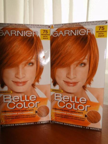 Краска для волос рыжие оттенки гарньер