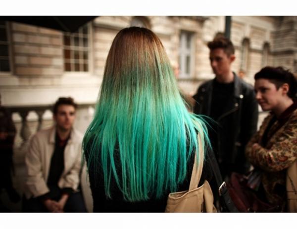 Волосы зеленые после хны